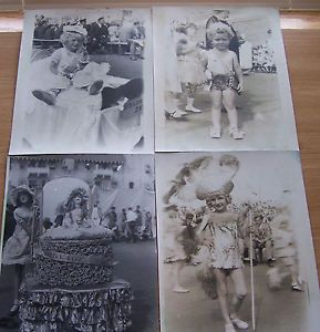 1930's Baby Parade Adorable Children in Costumes Photo Lot of 4 Images