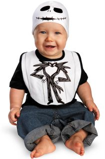 Nightmare Before Christmas Jack Skellington Bib Hat Infant Costume