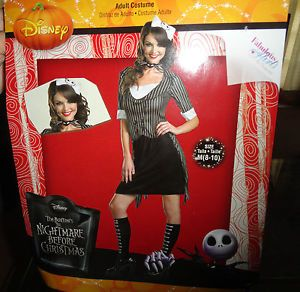 New Nightmare Before Christmas Jack Skellington Ladies Halloween Costume M 8 10