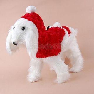 Christmas Pet Dog Puppy Santa Clothes Coat Costume S