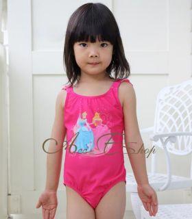Girls Kids Sz 2 6Y Disney Princess Swimsuit Swimwear Bathing Swimming Costume
