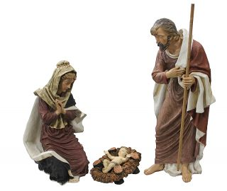 """50"""" Large 3 Piece Outdoor Holy Family Nativity Christmas Yard Art Statue Set"""