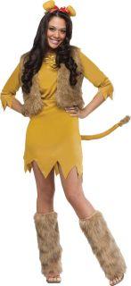 Lion Adult Womens Costume Jungle King Sexy Animal Safari Theme Party Halloween