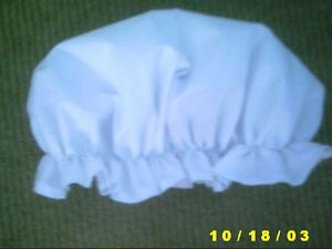 Victorian Edwardian Adult Baby Fancy Dress White MOP Cap Hat White Sissy Maid