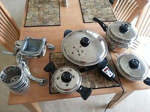 Saladmaster Titanium Waterless Cookware Electric Skillet Food Processor