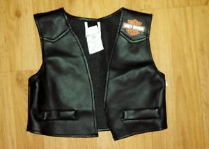 Lil' Biker Boy Toddler Harley Davidson Black Vest Halloween Child Costume
