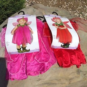 New Sugar Plum and Strawberry Fairy Costumes for Infant Toddler Girl