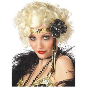 Jazz Baby Blonde Costume Wig Adult Womens Sexy Roaring 20s Flapper Halloween