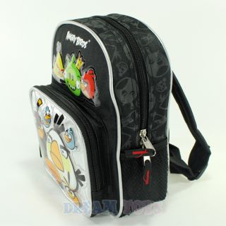 "Rovio Angry Birds and King Pig 10"" Small Toddler Backpack Boys Girls School Bag"