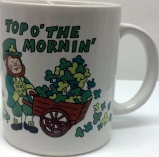 Irish Coffee Mug Top O' The Mornin' Novelty Shamrock Leprechaun Lego