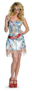 Scrabble Sexy Deluxe Female Adult Womens Costume Game Nerd Theme Party Halloween