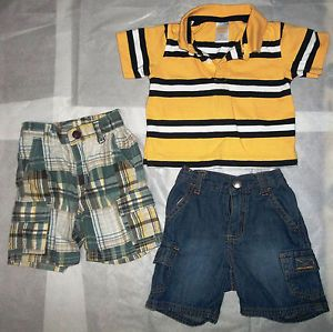 6 12 Month Baby Toddler Boys 3 PC Gymboree Summer Clothing Lot New w O Tags