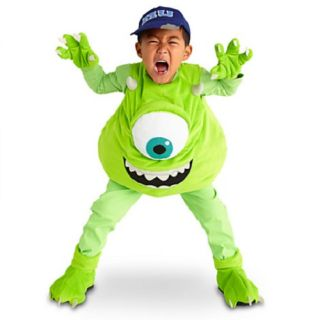 New Disney Store Monsters University Mike Wazowski Costume Halloween All Szs