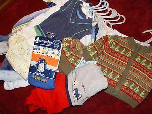 Huge Lot Baby Boy Sleepers Clothes Newborn 0 3 6mos Up Extra Nice 20pcs