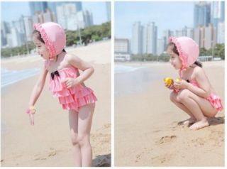 Girl Swimwear Tankini Swimsuit Bikini Bathers 2 7Y Swimming Costume Freeshipping