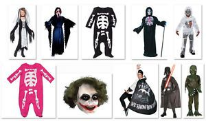 Kids Baby Boys Girls Adults Halloween Costume Mask Party New Skeleton Ghost