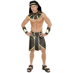 Egyptian Pharaoh Costume Adult King Tut Sphinx Halloween Fancy Dress