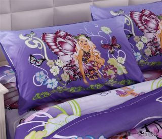 Lovely New Princess Quilt Cover Children Girls Duvet 3pcs Bedding Sets Cartoon