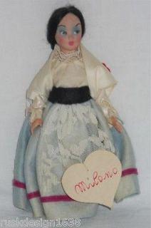 Vintage Lenci Torino Costume Doll Milano Heart Label Plastic Body w Tags Italy