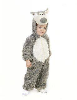 Kids Big Bad Wolf Jumpsuit Halloween Costume