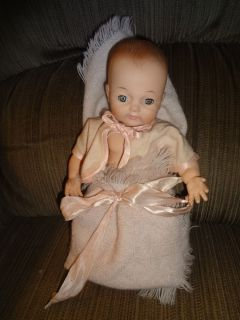 """Nice Adorable Madame Alexander Vinyl Baby Doll in Tagged """"Cherub Baby"""" Clothes"""