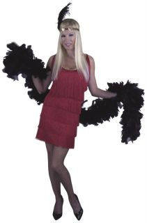 Red Flapper Roaring 20s Fringe Sexy Great Gatsby Halloween Costume Womens XL