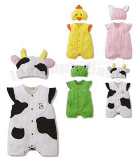 0 12M Baby Boy Girl Twins Animal Safari Dress Up Party Costume Body Suit