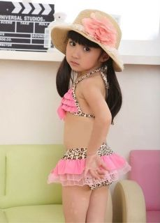 New Girl's Child Kids Swimsuit Swimwear Bathing Costume Tankini Swim Bikini 2 8Y