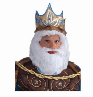 King Neptune Adult Roman God Halloween Costume Wig
