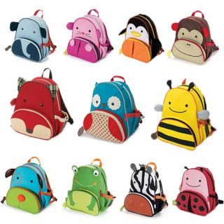 Cute Cartoon Kids Boy Girl Baby Backpack Zoo Animal Book School Shoulder Bag