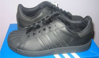 Adidas Original Superstar 2 Black Boys Sneakers Youth Size 11 3