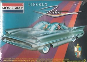 Monogram Lincoln Futura Plastic Model Car Kit Scale 1 25 85 7696