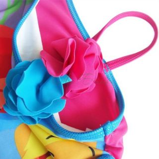 Girls Princess Barbie Mermaid Swimsuit Swimwear Swim Costume Bathing Suit Sz 2 8