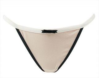 """Dolce Gabbana """"Silk Touch"""" String Thong Tanga Dessous D G Weiß Elfenbein Neu"""