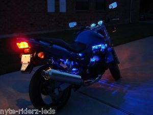 Blue LED Lights Motorcycle Kit Harley Davidson VW Trike Wide Angled LED Kit