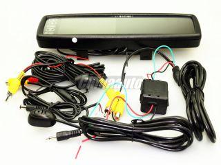 "4 3"" TFT LCD Car Rear View Mirror Monitor DVR Driving Video Recorder Bluetooth"