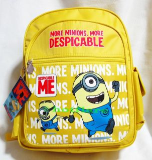 "15"" Despicable Me Minion Stuart Backpack Children Boy Girl School Bag Rucksack"