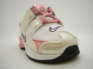 311194 161 Toddlers Little Kids Nike Shox NZ White Real Pink Black