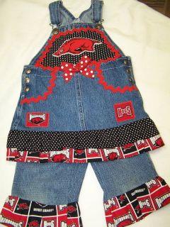 Boutique Custom Hog Wild Arkanasas Razorback Outfit