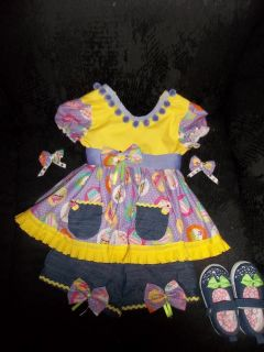 Paemae Pageant Cupcake OOC Denim Wear Casual Wear 18 Months 3T Perfect
