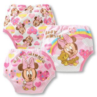 Kids 3 Pcs Baby Girls Toddler Potty Training Pants Cartton Underwear A Size 80