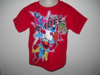 Elmo Heroes Short Sleeve Shirt Size 2T 3T 4T