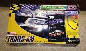Scalextric T3 Trans Am Series Box Kit No Cars Slot Car Racing Track Remotes