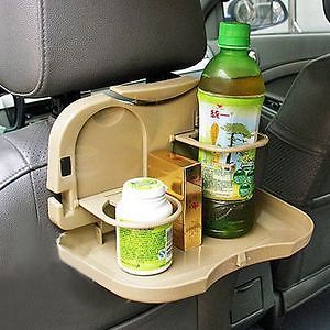 Automobile Car Meal Plate Drink Cup Holder Tray Foldable Car Auto Food Meal Tray