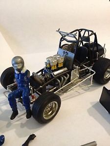 Vintage Monogram 1 24 Scale Sprint Car Model Car Kit Pro Built Very Nice Look