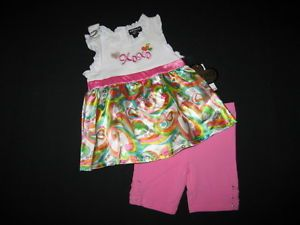 "New ""XOXO Heart Satin"" Shorts Girls Clothes 4T Spring Summer Toddler Boutique"