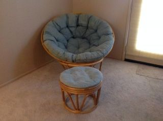 ... Pier One Imports Papasan Chair With Ottoman Very Good Price ...