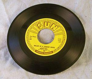 Johnny Cash 1958 Sun Records Ballad Teenage Queen Big River VG Very Clean