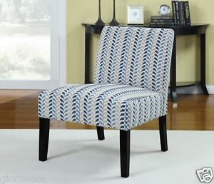 Contemporary Print Armless Upholstered Accent Chair Coaster Furniture New 902059