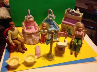 Fisher Price Loving Family Dollhouse Lot 14 Baby Crib Chair Dolls Home Furniture